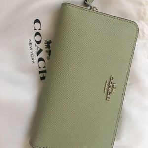 Mint Coach Wallet